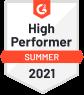 High Performer Summer 2021 award